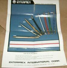 Vintage digital LCD watch pen - Enterprex - One Sheet Ad Advertisement