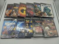 Lot of 11 Disney Pixar PlayStation 2 Video Games