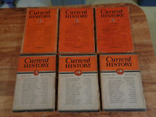 RARE 1930 Current History Magazine Lot of 6 New York Times w/Advertising Camels