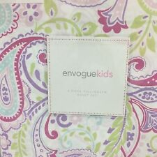 Envogue Kids Paisley Green Aqua Purple F/Queen Duvet S/3 ~New~