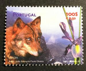 Wolf Iris Peneda-Gerês National Park MNH Stamp 1999 Portugal #2294 Flower