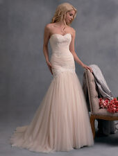 Alfred Angelo wedding Dress style 2592 Size 10 Gold/Ivory NEW!!