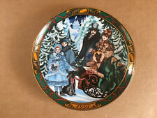 Royal Copenhagen 1991 Bringing Home The Christmas Tree Plate - First Edition