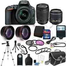 Nikon D5500 Digital SLR Camera 4 Lens Kit 18-55mm VR + 70-300 mm + 32GB Kit
