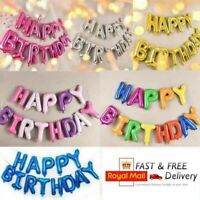 LARGE HAPPY BIRTHDAY SELF INFLATING BALLOON BANNER BUNTING PARTY DECORATION UK,