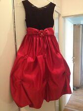 Festliches Kleid, Rot, Schwarz, 122/128, USA, Hochzeit, Blumenmädchen