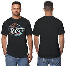 NBA Detroit Pistons Hardwood Classics Kurzarm T Shirt Sport Top Schwarz Herren