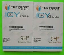 2-FIRE FROST ICY 9H TEMPERED GLASS IPHONE 7 3D FULL COVER BLACK SCREEN PROTECTOR