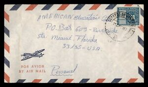 DR WHO 1963 VENEZUELA AIRMAIL TO USA  g09375