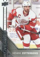 2016-17 Upper Deck Overtime Hockey #78 Henrik Zetterberg Detroit Red Wings