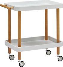 Küchenwagen Servierwagen Holz Rollwagen Küchentrolley Beistellwagen Weiß Antik