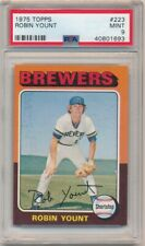 ROBIN YOUNT 1975 TOPPS #223 RC ROOKIE CARD HOF MILWAUKEE BREWERS PSA 9 MINT