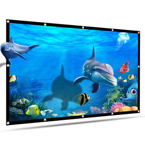 60-Inch HD Projector Screen 16:9 Foldable Thick Durable For Outdoor Theater D2O8