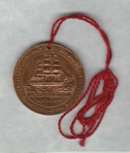 HOLED 1905 BRITISH & FOREIGN SAILORS SOCIETY TRAFALGAR DEATH OF NELSON MEDAL.