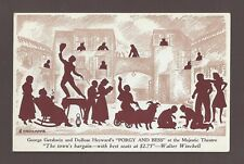 "George Gershwin ""PORGY and BESS"" Todd Duncan / Anne Brown 1942 Broadway Postcard"