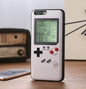 White Tetris Gameboy Phone Case Cover For iPhone 12 11 Pro XS Max XR Plus 8 7 6