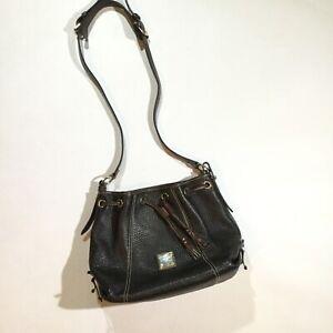Dooney & Bourke Pebble Grain Kendall Crossbody Shoulder Bucket Bag In Brown