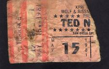 1981 Ted Nugent concert ticket stub San Diego Scream Dream