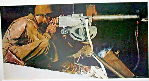 NORMAN ROCKWELL GATEFOLD PRINT PAGES,LETS GIVE HIM ENOUGH & ON TIME,BROWNING GUN