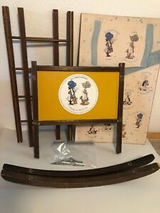 Lot 6 Replacement Parts for Vtg 70's Holly Hobbie Doll Size Cradle Rocking Crib