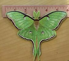 Glow In the Dark Embroidered Luna Moth Iron On Patch Appliqué