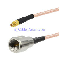 FME male plug to MMCX Male Adapter Pigtail COAXIAL Cable RG316 30cm for Wireless