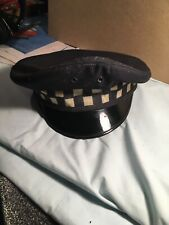 Chicago Police Obsolete Vintage Checkerboard Patrolman Hat Size 7 3/8