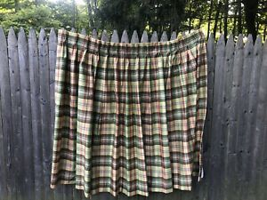 Vintage Mid Century 60s Four (4) Curtains Triple Pinch Pleat Plaid 55 X 57 Lined