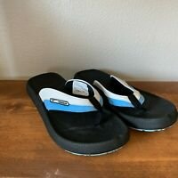 Reebok Size 7 Black and Blue Rubber Sole Thong Flip Flop Sandals Women's