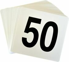 Argon Tableware Table Number Plastic Card Set 1-50. Double Sided