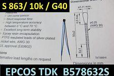 EPCOS S863 NTC THERMISTOR Miniatur Sensor B57863S103G40 Temperatursensor 10k Ohm