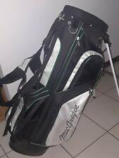 MCGREGOR WHITE/ BLACK/ GREEN NYLON  STAND DUAL STRAP  + GOLF BAG !!!