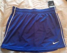 Nike Dri Fit Lacrosse Skirt Blue White Athletic Workout Sport M Medium Elastic
