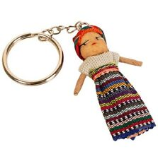 Guatemalan Worry Doll Keyring Fair Trade Handmade Collectables Stocking Fillers