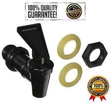 Tomlinson Plastic Water Faucet Spigot Drink Dispenser Replacement Plastic Black