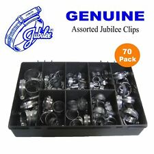 70 x Assorted Genuine Jubilee Clips, Jubilee hose clips clamps worm drive