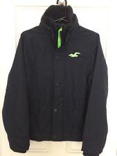 Hollister men's navy blue jacket, fleece lined, Size S