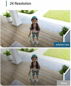 eufy - eufyCam 2 Pro 2K Indoor/Outdoor 2-Camera Security System - White