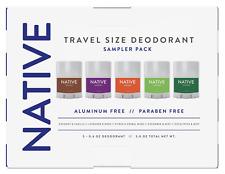 Native Aluminum Paraben Free Deodorant 5 Sampler Pack - NEW