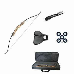 """SAS Sage Premier 62"""" Takedown Recurve Bow Combo Package with Case, Armguard"""