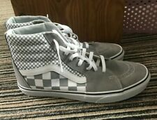 Men's Van's Grey checkboard design- hightops size UK10