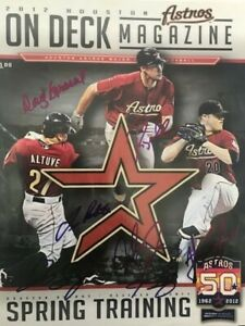 2012 Autographed Houston Astros Spring Training Magazine/Program