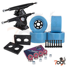 Cal 7 Longboard Flywheel 180mm Truck Bearing 90mm Light Blue Skateboard Wheels