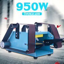 950W Double Axis Bench Belt Sander Grinding Machine Bench Grinder Sanding 220V