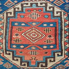 AN EXCEPTIONAL ANTIQUE SUMAK ARMENIAN CAUCASIAN SHAHSAVAN KHORJIN SADDLE BAG RUG