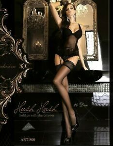 Black sexy stockings Thigh Highs Classic black holds ups 20 den Made in EU