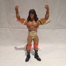 WWE WWF ULTIMATE WARRIOR WRESTLING  FIGURE WITH FREE CUSTOM BELT + TRADING CARD