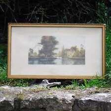 ROTH  Paysage fluvial Aquatinte (début XXe)