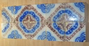 10 original antique tile c1870 France Provecal Style ideal for console table top