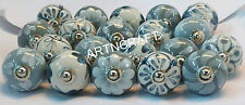 10 mixed Grey & White Cream Ceramic Pottery Cabinet Knob Door Knobs handle pull